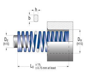 فنر های بار متوسط آبی 10X25 B